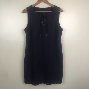 TOMMY HILFIGER Knit Lace front Sleeveless Dress